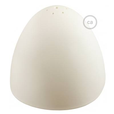 """Silicone Lampshade color white supplied with diffuser and strain relief. Diameter cm 9-13/16""""."""