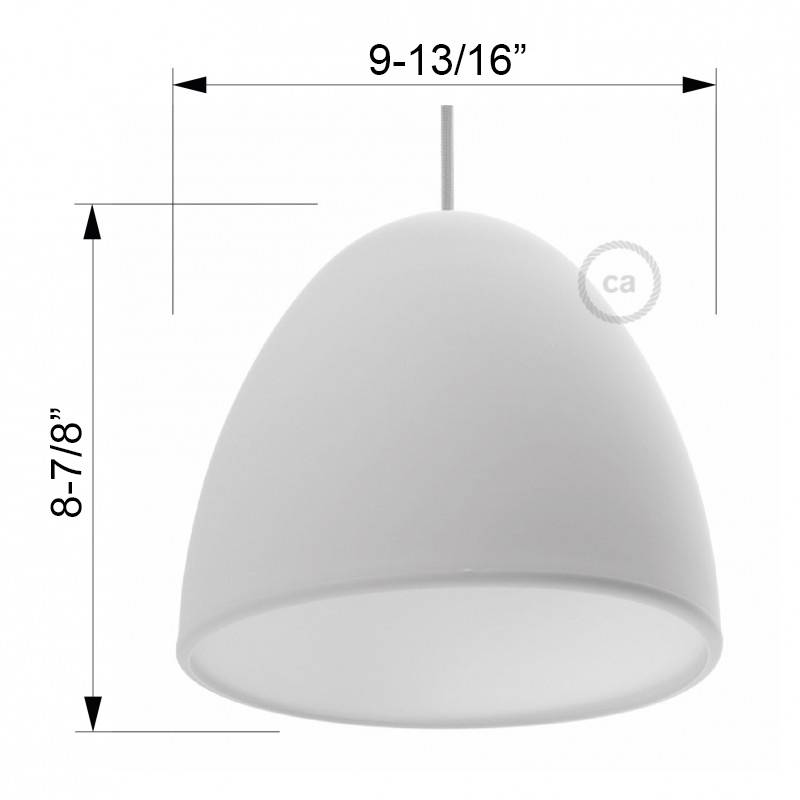 """Silicone Lampshade color yellow supplied with diffuser and strain relief. Diameter cm 9-13/16""""."""