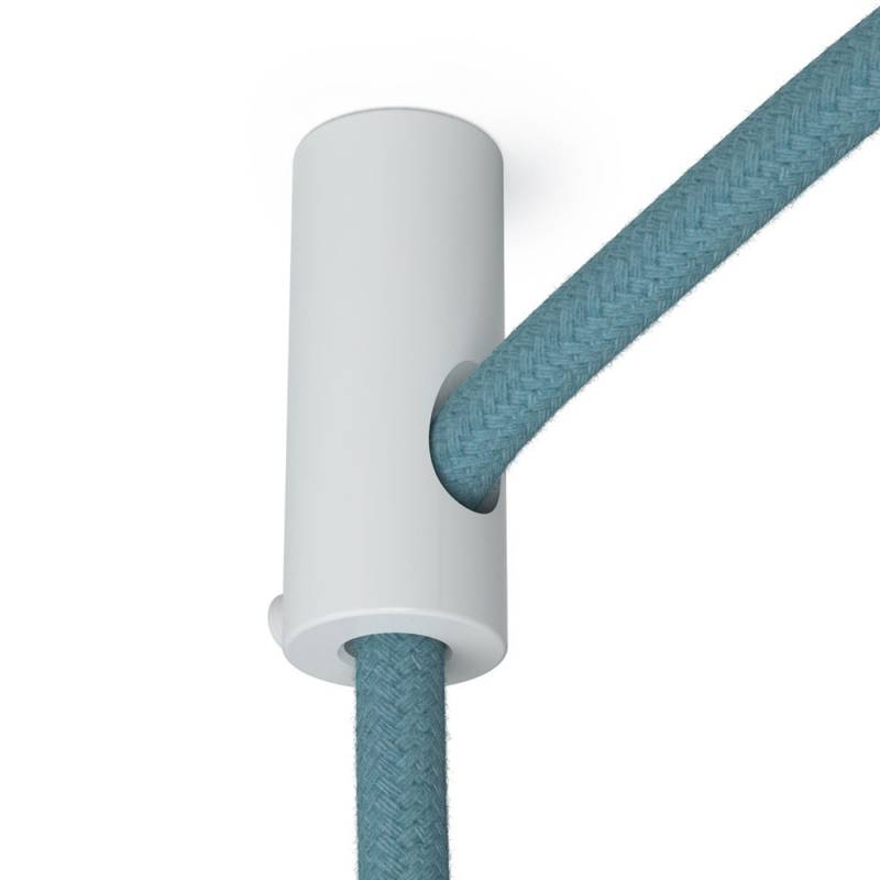 Swag Hook, White ceiling hook and stop for fabric cable