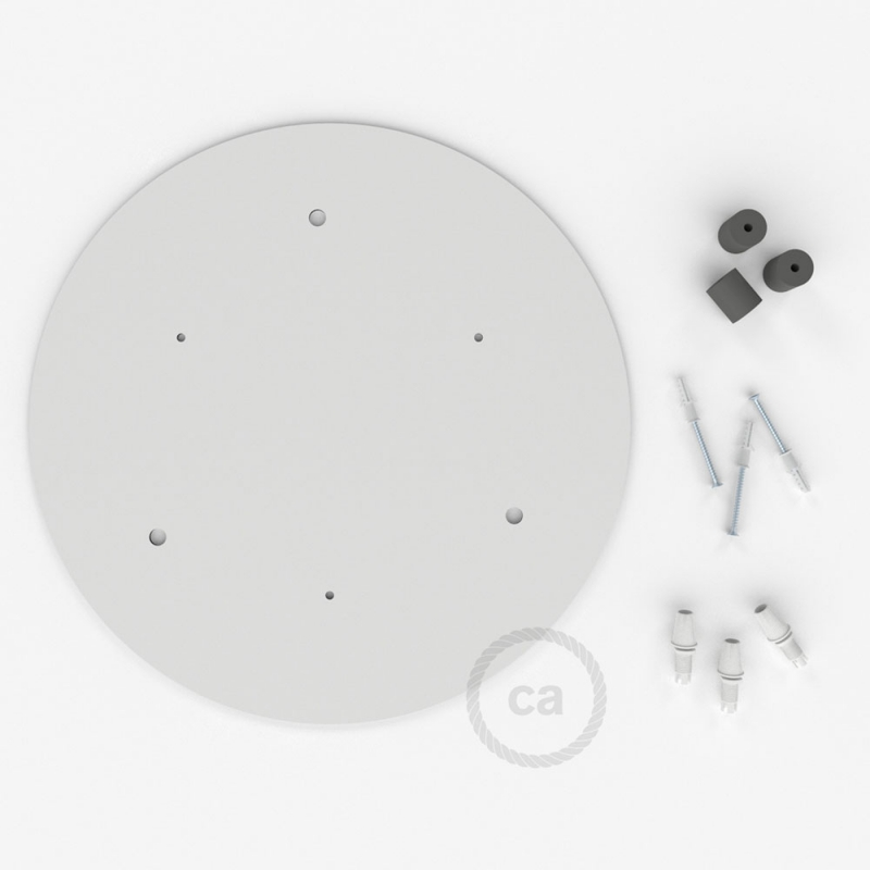 """Round 13.80"""" XXL Ceiling Rose with 3 holes + Accessories"""