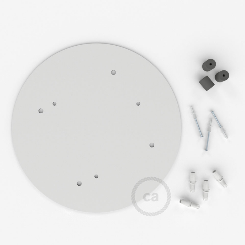 """Round 13.80"""" XXL Ceiling Rose with 4 holes + Accessories"""