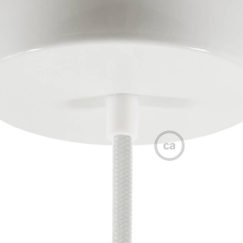 White 1.7 cm long Round Plastic Strain Relief
