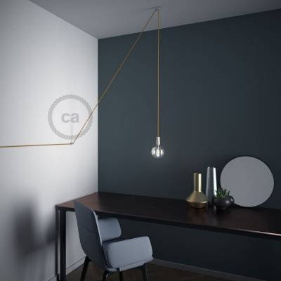 """Swag Hook, Transparent """"V"""" ceiling or wall hook for any fabric electric cable"""