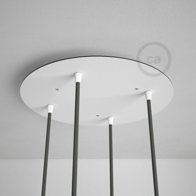 "Round 13.80"" XXL Ceiling Rose with 4 holes + Accessories"