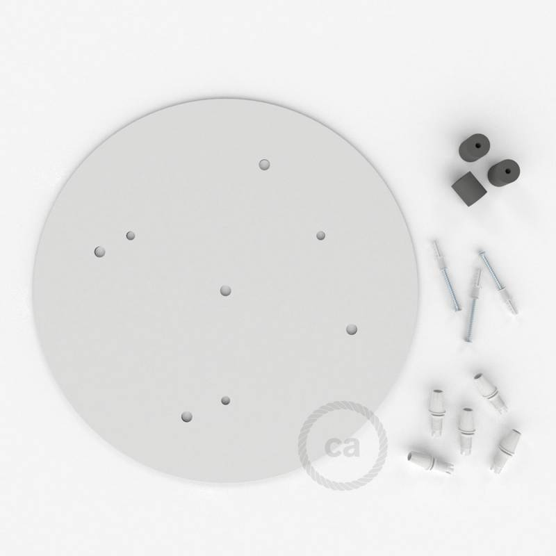 "Round 13.80"" XXL Ceiling Rose with 5 holes + Accessories"