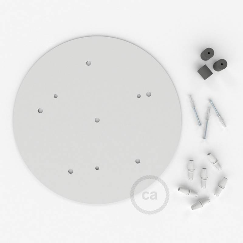 """Round 13.80"""" XXL Ceiling Rose with 6 holes + Accessories"""