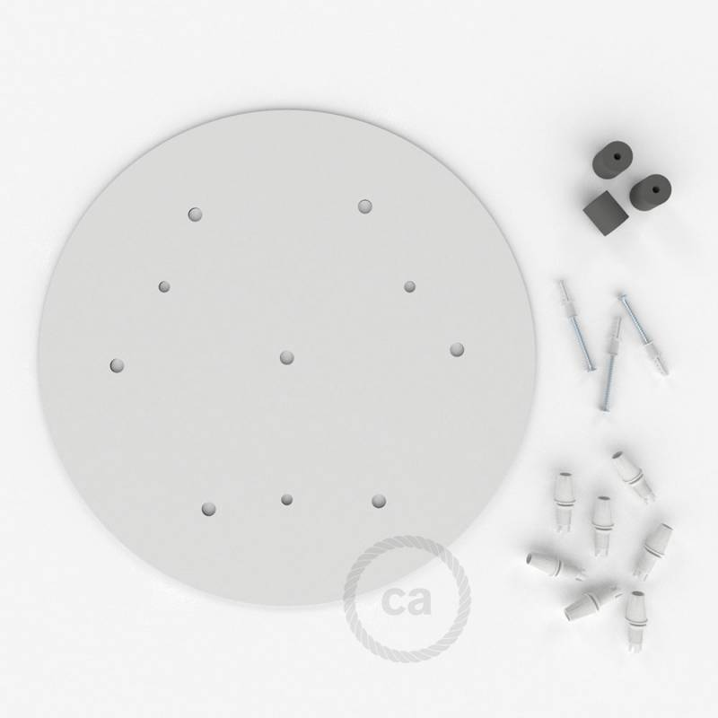 "Round 13.80"" XXL Ceiling Rose with 7 holes + Accessories"