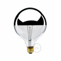 G40 - Incandescent Half Chrome Dipped Globe Light Bulb