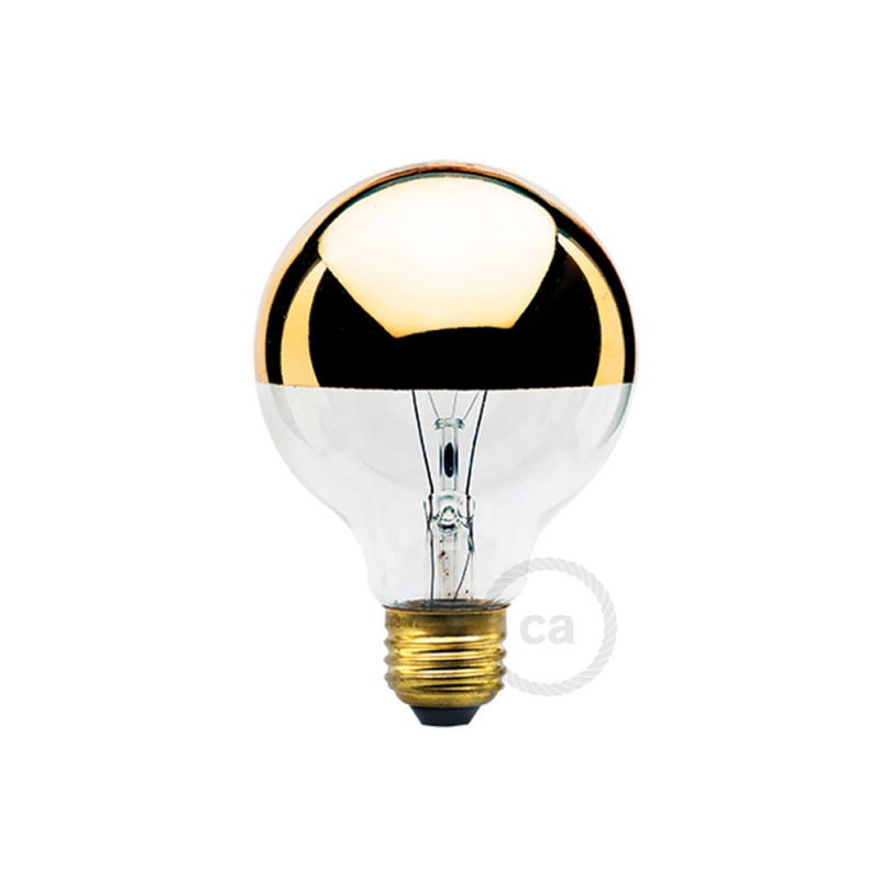 G25 - Incandescent Half Gold Dipped Globe Light Bulb