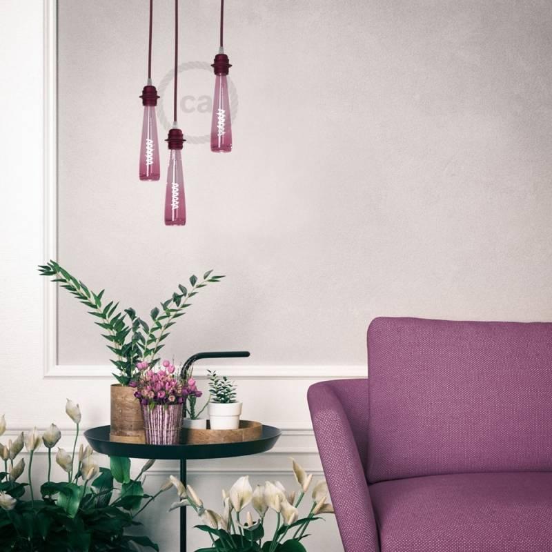 Flower Vase| Pink Light Bulb
