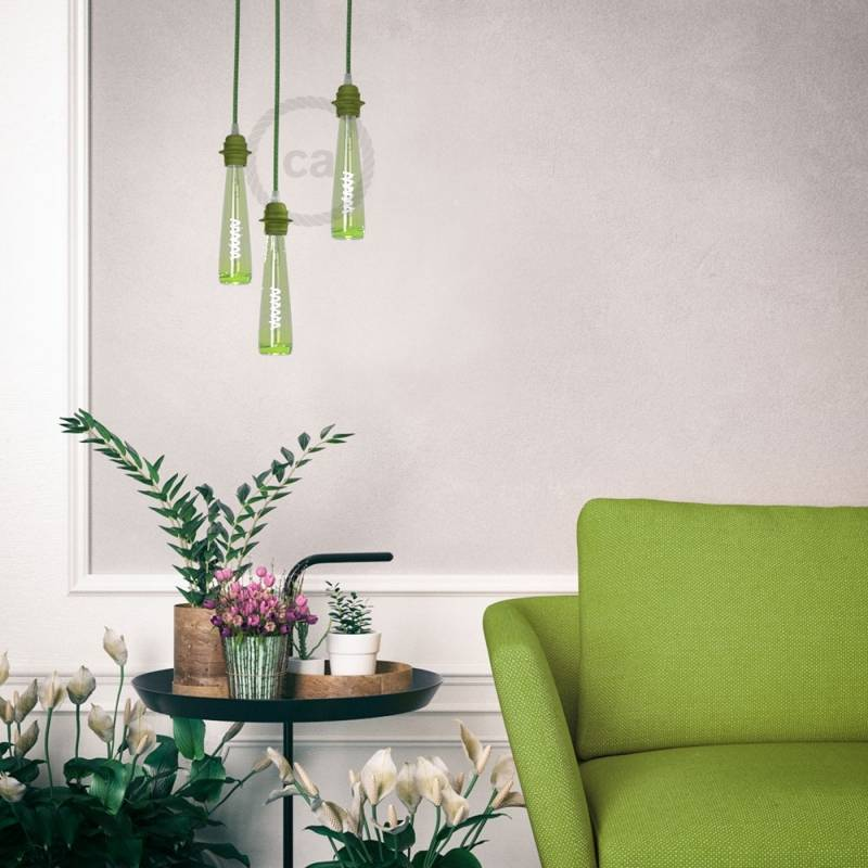Green Flower Vase LED Light Bulb