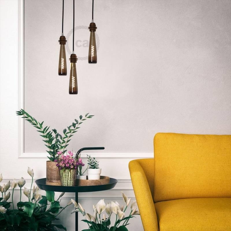Flower Vase   Amber Light Bulb