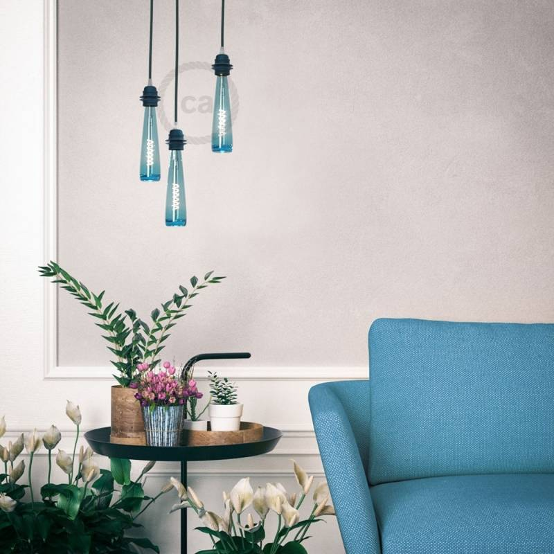 Blue Flower Vase LED Light Bulb