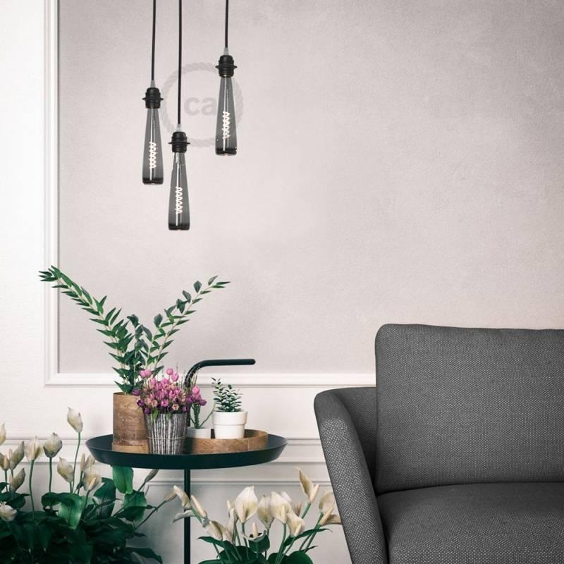 Flower Vase | Black Light Bulb