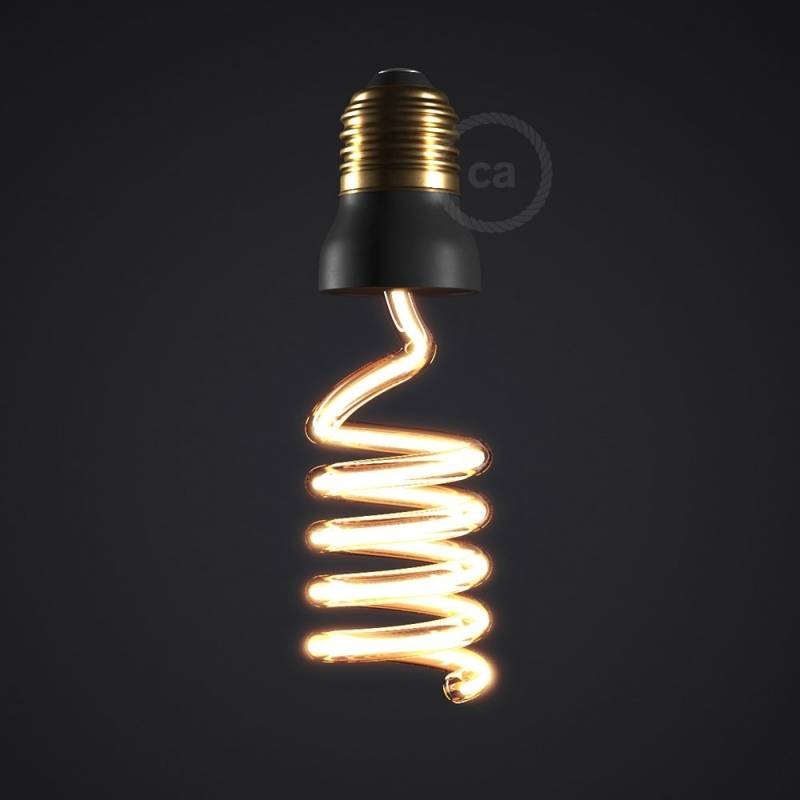 The Corkscrew Bulb - LED Art Loop Up Light Bulb