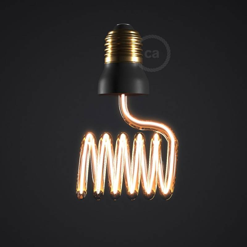 The Curling Iron Bulb - LED Art Loop Cross Light Bulb
