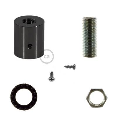 Black Pearl metal cable terminal for 16 mm Creative-Tube, accessories included
