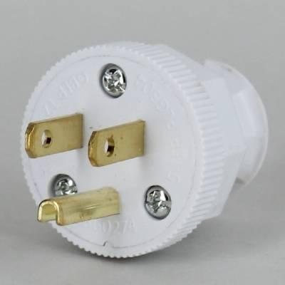 White Round 3- Prong Plug