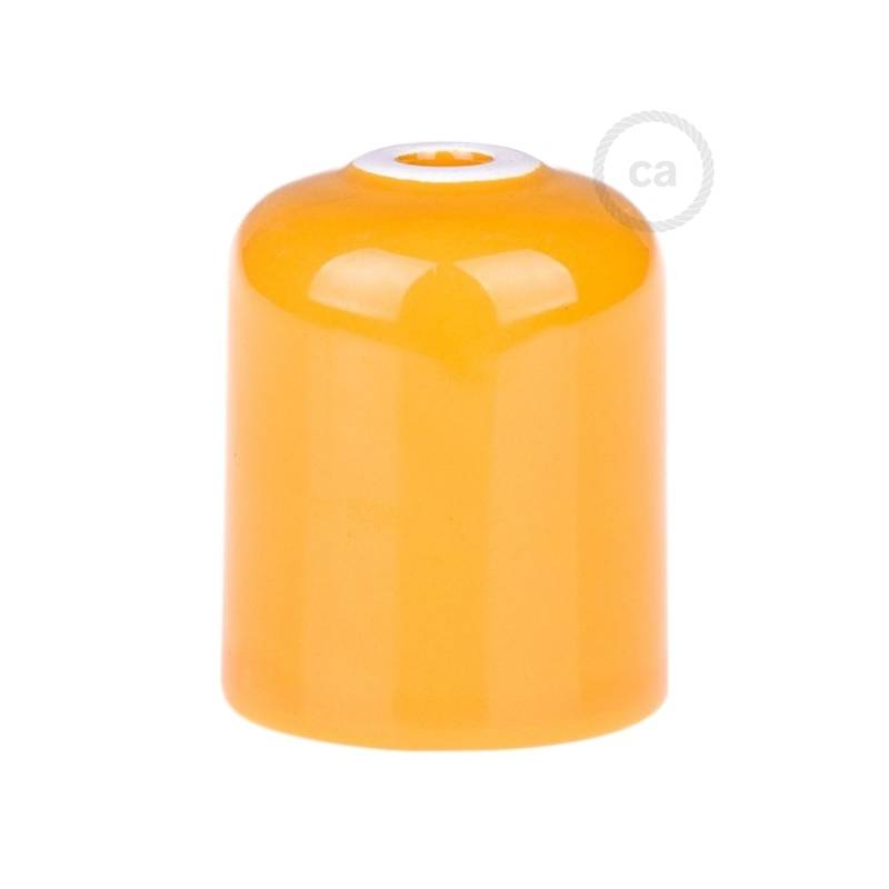Yellow ceramic spider, multiple suspension with 6-7 pendant, RM10 yellow cable