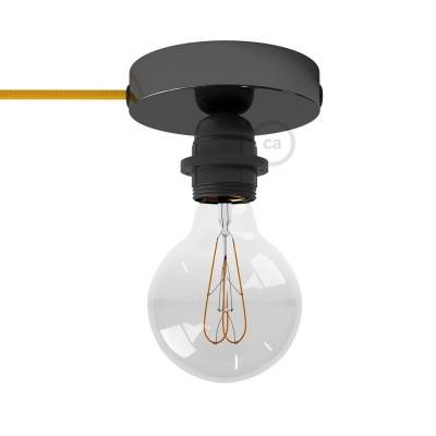 Spostaluce, the black pearl light source with E26 threaded socket, fabric cable and side holes