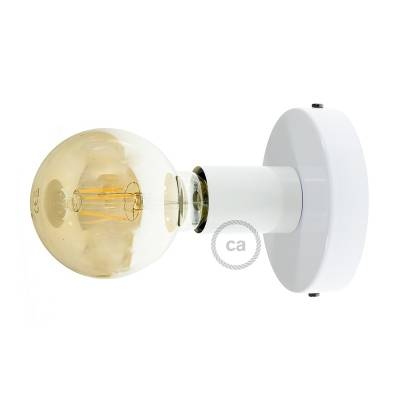 Fermaluce, the white metal wall or ceiling light source.