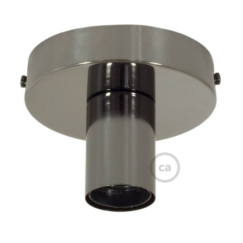 Fermaluce, the black pearl metal wall or ceiling light source.