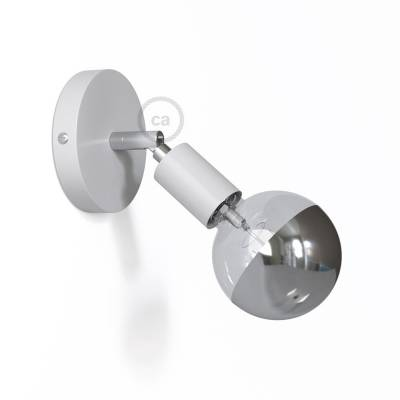 Fermaluce Metallo 90° White adjustable, metal wall flush light