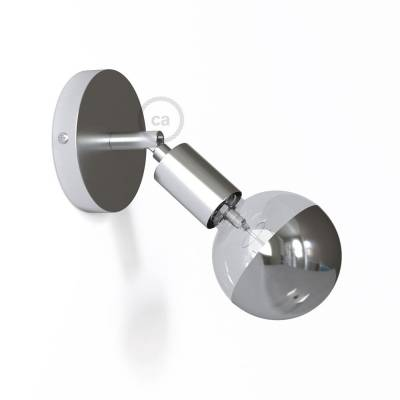 Fermaluce Metallo 90° Chrome adjustable, metal wall flush light