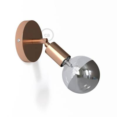 Fermaluce Metallo 90° Copper finish adjustable, metal wall flush light