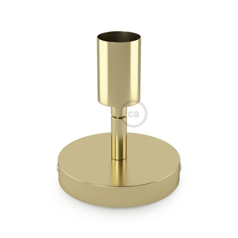 Fermaluce Metallo 90° Brass finish adjustable, metal wall flush light