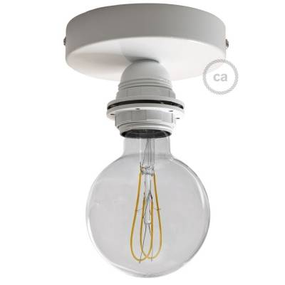 Fermaluce White metal, with E26 threaded lamp holder, the metal wall or ceiling light source
