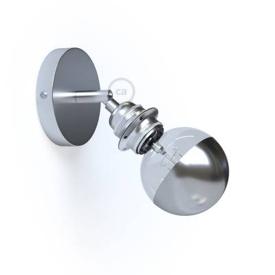 Fermaluce Metallo 90° Chrome adjustable, with E26 threaded lamp holder, the metal wall or ceiling light source