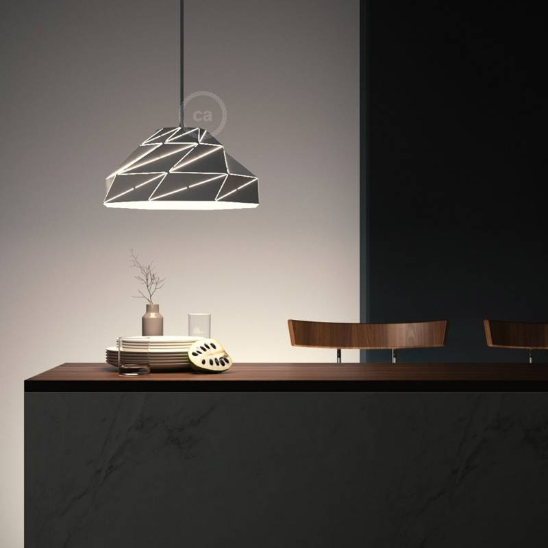 Nuvola Lampshade in shiny white metal with E26 socket