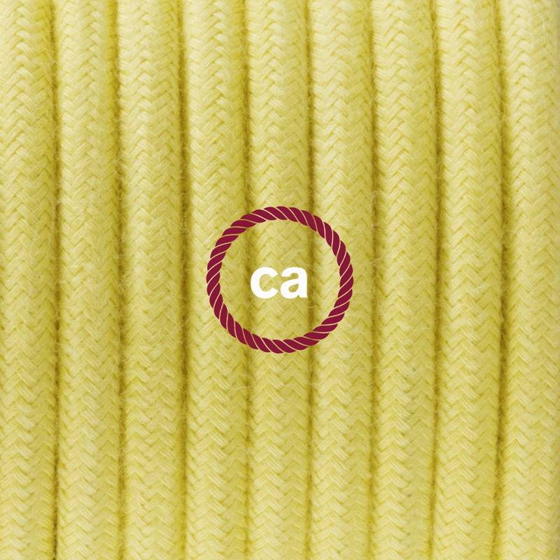 Plug-in Pendant with switch on socket | RC10 Pale Yellow Cotton