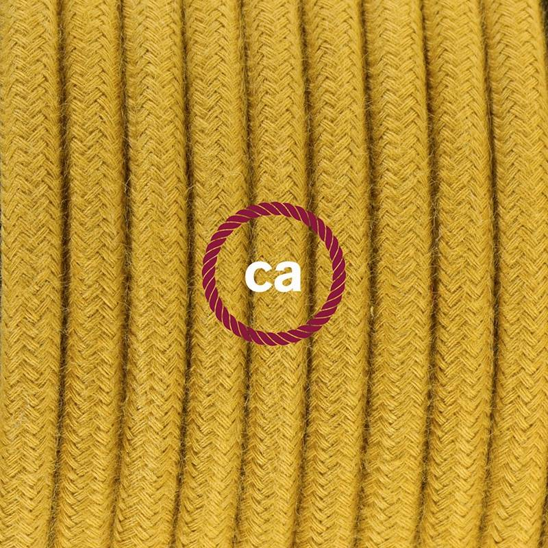 Plug-in Pendant with switch on socket | RC31 Mustard Cotton