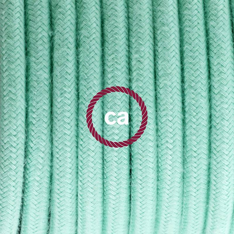 Plug-in Pendant with switch on socket   RC34 Mint Green Cotton