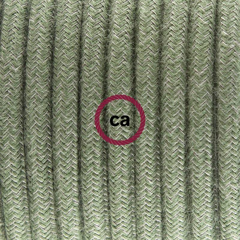 Plug-in Pendant with switch on socket | RC63 Gray Green Cotton