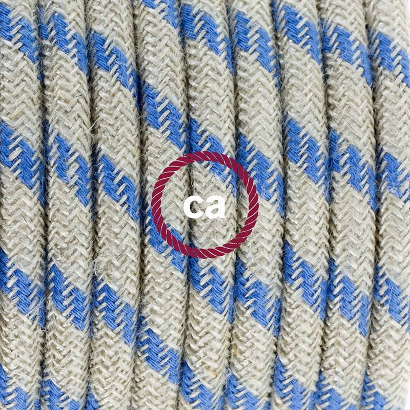 Create your RD55 Natural & Blue Linen Stripe Snake for lampshade and bring the light wherever you want