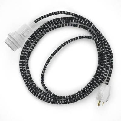 Create your RT41 Black & White Tracer Snake for lampshade and bring the light wherever you want