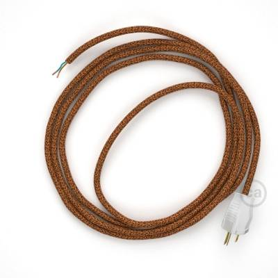 Cord-set - RL22 Copper Glitter Covered Round Cable
