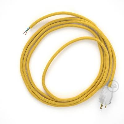 Cord-set - RM25 Mustard Rayon Covered Round Cable