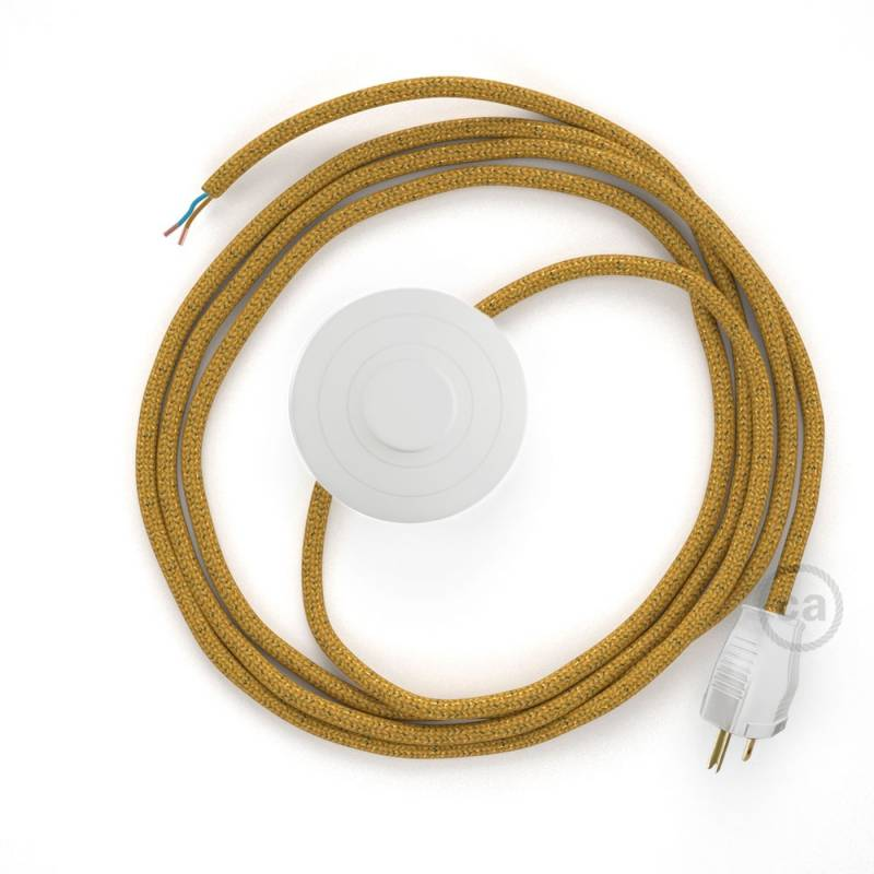 Power Cord with foot switch, RL05 Gold Glitter - Choose color of switch/plug