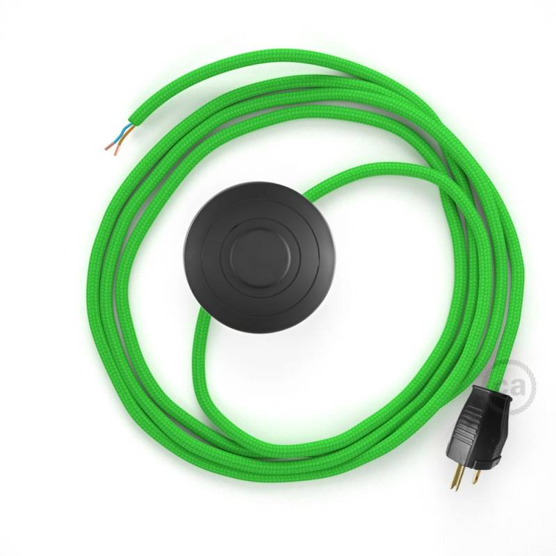 Power Cord with foot switch, RM18 Lime Green Rayon - Choose color of switch/plug