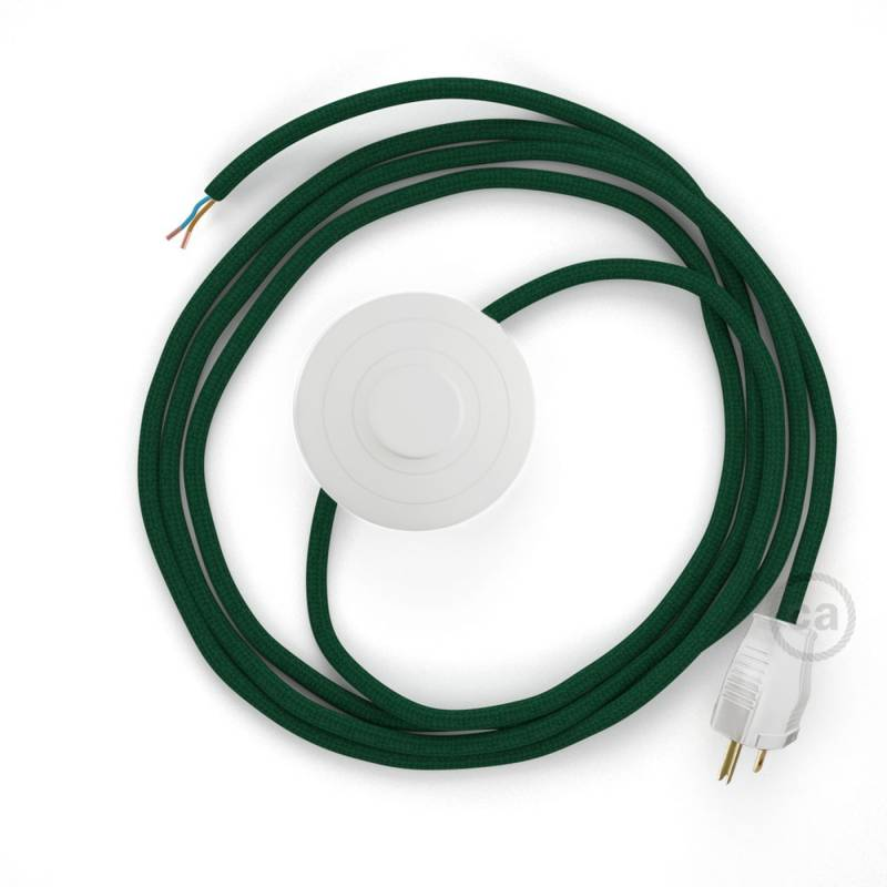 Power Cord with foot switch, RM21 Emerald Rayon - Choose color of switch/plug