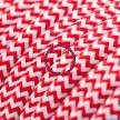 Power Cord with foot switch, RZ09 Red & White Chevron - Choose color of switch/plug