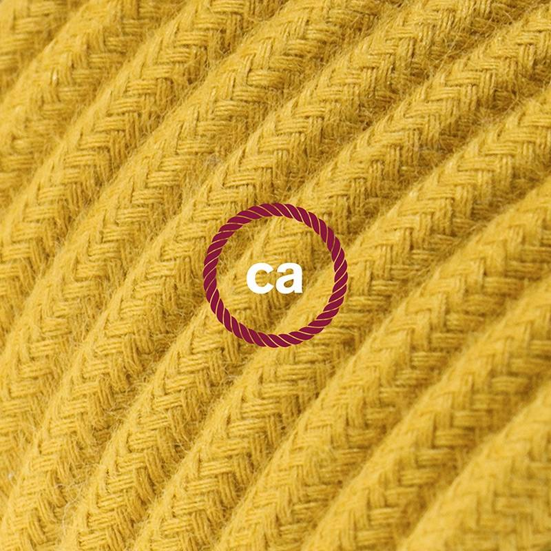 Power Cord with in-line switch, RC31 Mustard Cotton - Choose color of switch/plug