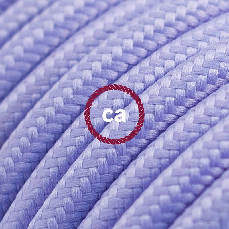 Power Cord with in-line switch, RM07 Lilac Rayon - Choose color of switch/plug