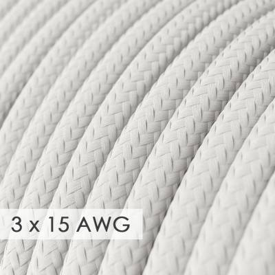Extension Cord - Round White Rayon RM01 - 15/3 AWG