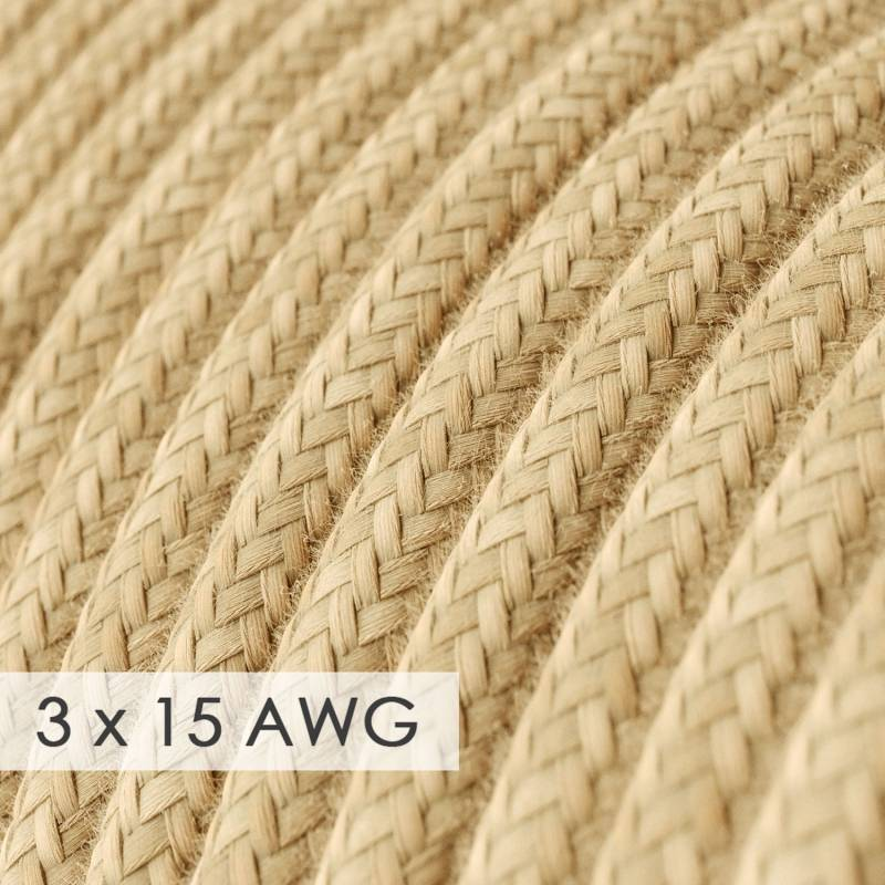 Extension Cord - Round Jute RN06 - 15/3 AWG