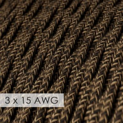 Extension Cord - Twisted Brown Linen TN04 - 15/3 AWG